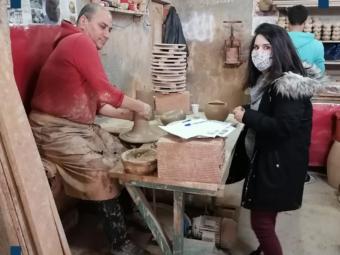 Visite ateliers de fabrication des articles en cuivre (2)